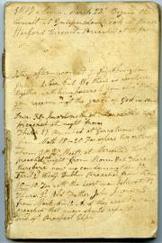 Record of sermons, 1817 (Box 1, folder 11)