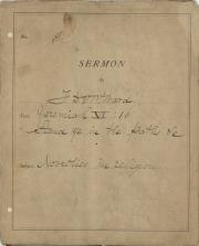 Sermon, 1877 (Box 1, folder 17)