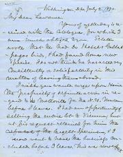 Letter, July 1870 (Box 1, folder 7)