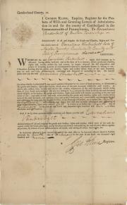Letter, 1809 (Box 2, folder 12)