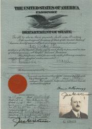 Passport, 1925 (Box 3, folder 13)