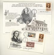 Envelope and postcard, 1983 (Box 2, folder 23)