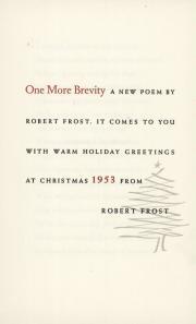Christmas card, 1953 (Box 1, folder 17)