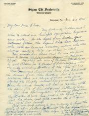 Letter from John Black, Jr. papers