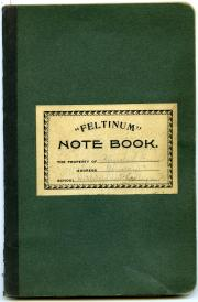 German notebook, undated (Box 1, folder 4)