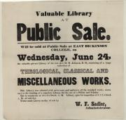 Notice of sale, 1868 (Oversized, folder 1)