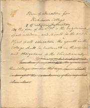Plan of Education for Dickinson College - RG 1/1, 3.2.8