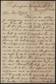 Letter in Box 1, Folder 7