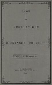 RG 1/2 - 10.1.12 The Statutes of Dickinson College, 1853