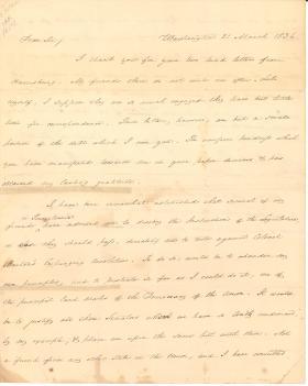 Letter from James Buchanan to V. Best