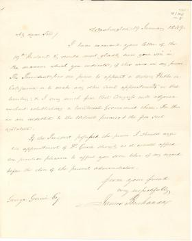Letter from James Buchanan to George Guier