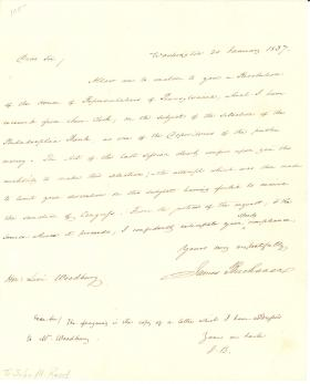 Letter from James Buchanan to Levi Woodbury