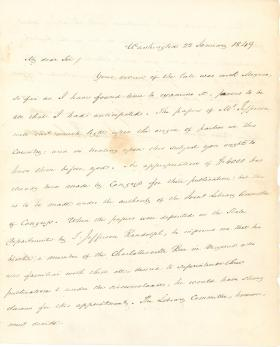 Letters from James Buchanan to Nahum Capen