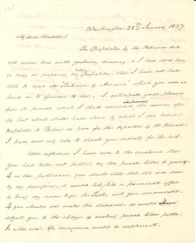 Letter from James Buchanan to Sarah Maury