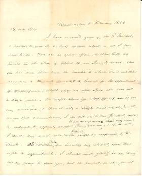 Letter from James Buchanan to Jacob Weidman