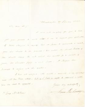Letter from James Buchanan to George McClellan