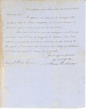 Letter from James Buchanan to James P. Reily