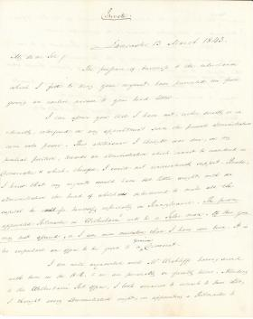 Letter from James Buchanan to Harrison Wright