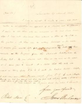 Letter from James Buchanan to Robert Morris