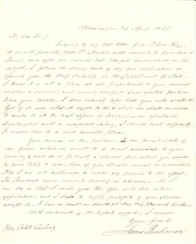Letter from James Buchanan to Caleb Cushing