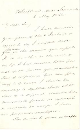 Letter from James Buchanan to Thomas A. Goodman