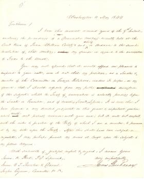 Letter from James Buchanan to James Reed et al.