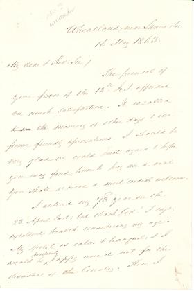 Letter from James Buchanan to Henry Slicer