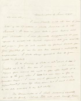 Letter from James Buchanan to Francis W. Pickens