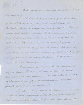 Letter from James Buchanan to Henry A. Clover