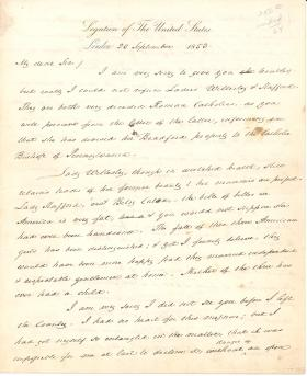 Letter from James Buchanan to Christopher L. Ward