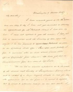 Letter from James Buchanan to M. G. Dale
