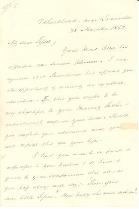Letters from James Buchanan to Jessie Magaw
