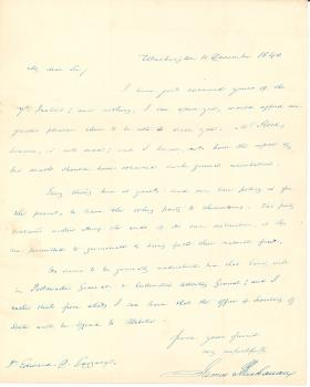 Letters from James Buchanan to Edward D. Gazzam