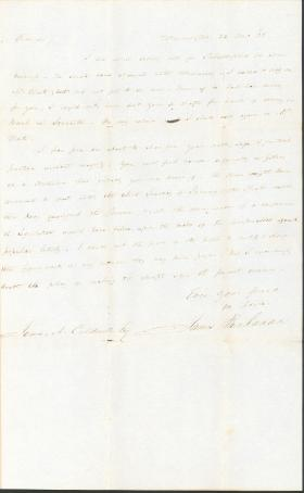 Letter from James Buchanan to James A. Caldwell