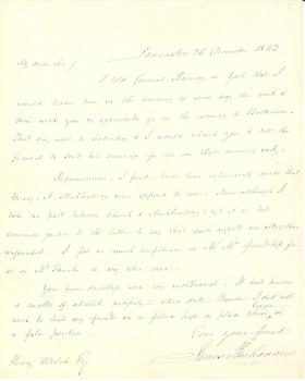 Letters from James Buchanan to Henry Welsh