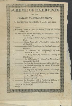 1812 Commencement Program