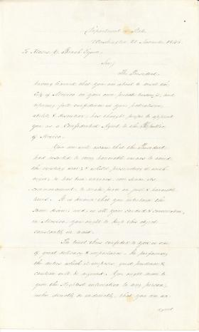 Letter from James Buchanan to Moses Beach