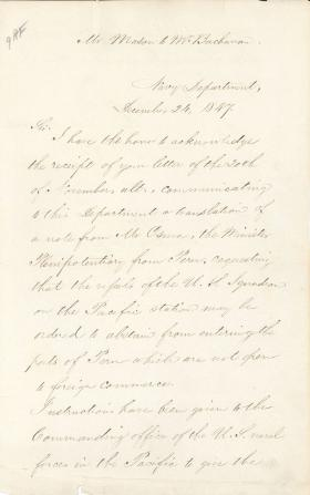 Letter from J. Y. Mason to James Buchanan