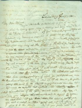 Letters from Oliver Worden to Eli Slifer