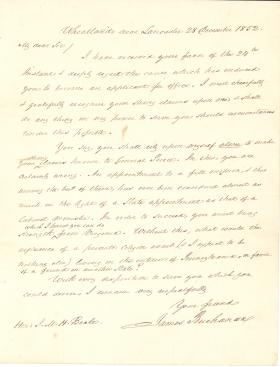 Letter from James Buchanan to James M. H. Beale
