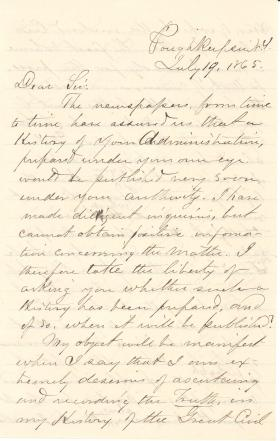 Letter from Benson Lossing to James Buchanan