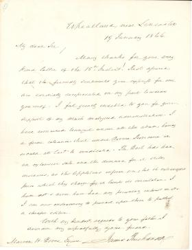 Letter from James Buchanan to Marvin Boves