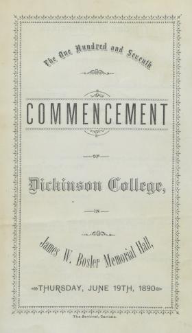 1890 Commencement Program