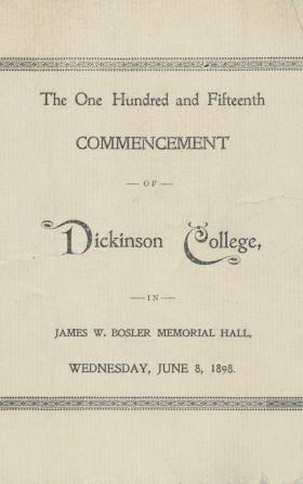1898 Commencement Program