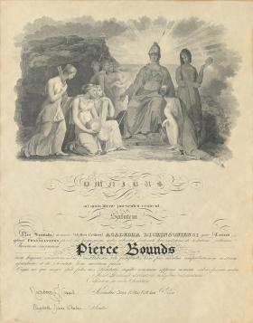 Belles Lettres Society Diploma - Pierce Bounds