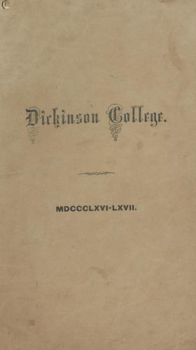 Catalogue of Dickinson College for the Academical Year, 1866-67