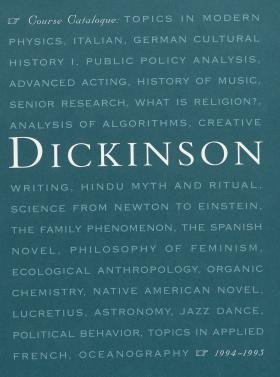Dickinson College Bulletin, Annual Catalogue Issue, 1994-95