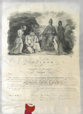 Belles Lettres Society Diploma - George Chenoweth