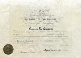 Honorary Doctor of Science Diploma - George Chenoweth