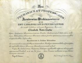 Bachelor of Arts Diploma - Elizabeth Clarke